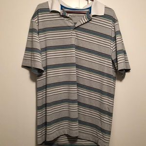 Striped Nike golf polo